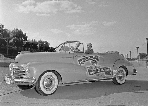 Wilbur SHaw in the 1948 Pace Car