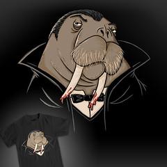 Nature's Vampire? (wanderingbert) Tags: nature animal blood jump vampire teeth tie tshirt kingdom cloak tee walrus lafraise
