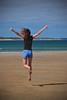Vacational joy (Dirty S) Tags: beach jumping nikon girlfriend australia victoria greatoceanroad torquay d700