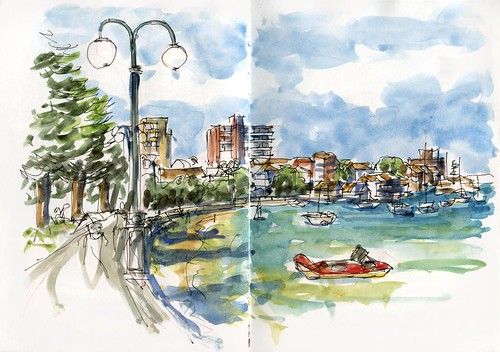 110122 Sketchcrawl 30_03 Manly Cove