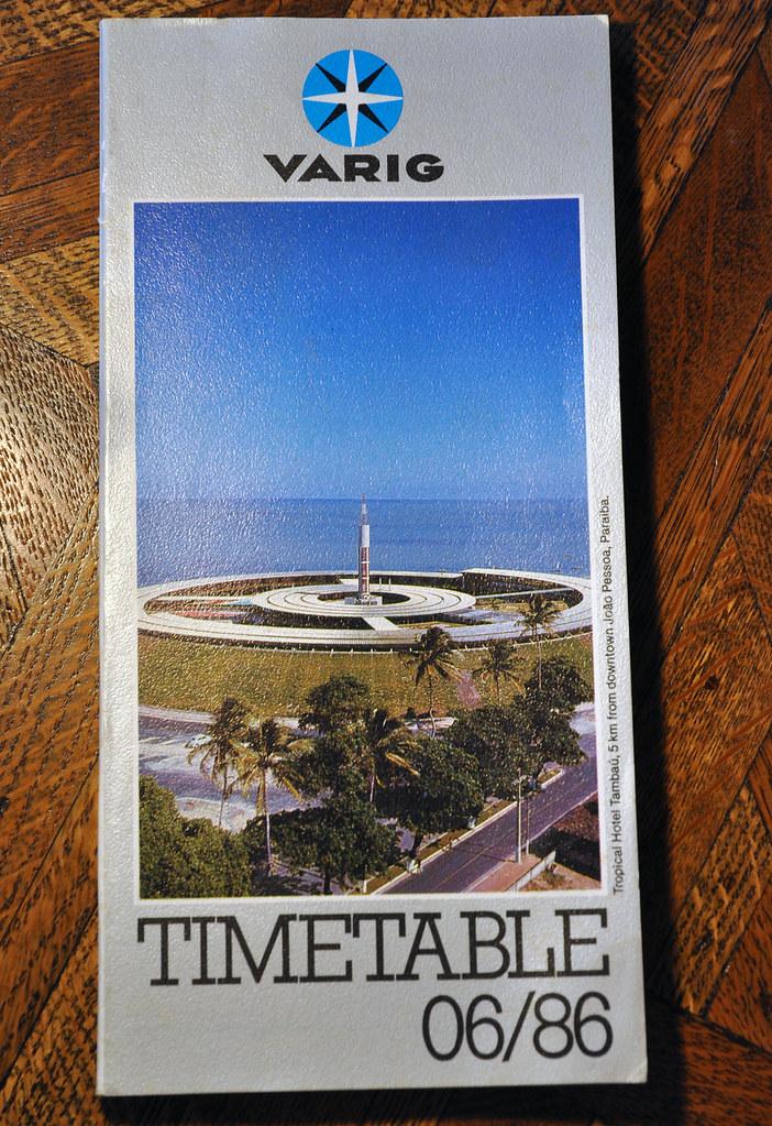 Varig Timetable June 1986