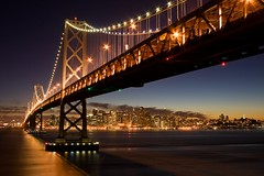 Last Light Over the Bay (Brad-Miller) Tags: sanfrancisco california longexposure bridge light sunset water skyline night canon island lights oakland bay interestingness interesting lowlight flickr dusk baybridge bayarea bluehour yerbabuena explored