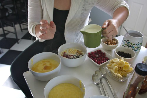 breakfast polenta party!