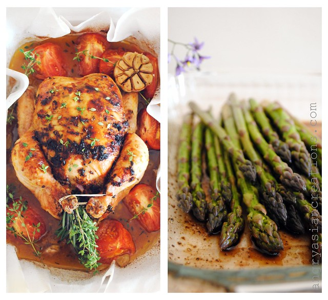 Roasted Chicken & Seared Asparagus