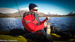 Kayak predators (Nicolas Valentin) Tags: uk morning blue winter light sky mountain lake fish cold reflection nature water weather landscape freedom scotland fishing scenery aqua europe kayak alba outdoor quality great explore highland kayaking z loch wilderness pike awe ecosse nokill kayakfishing oceankayak kayakscotland kayakfishingscotland