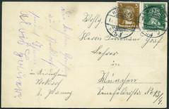Archiv H378 Kinderheimgruppe (back), Poststempel Mnchen, 18. August 1927 (Hans-Michael Tappen) Tags: archivhansmichaeltappen stockdorfbeimnchen mnchen briefmarken 1927 1920s 1920er handschrift poststempel postkarte postcard stamps