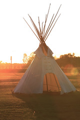 Tipi at 10 Mile Point Lokout (couchmaster73) Tags: 10milepointlookout tipi sunset manitoulinisland tradingpost