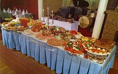 Kingstown Inn RI (Edge and corner wear) Tags: food vintage cuisine restaurant pc all you postcard can eat chrome dining leisure buffet abundance carefree smorgasbord