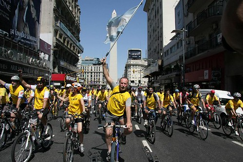 Bicicletiada en Buenos Aires