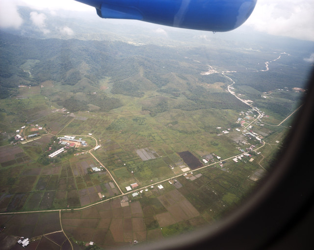 A view from the air of Bario