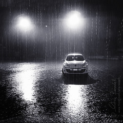 essential downpour () Tags: auto andy car rain night automobile andrea andrew pioggia notte downpour iphone torrential benedetti torrenziale