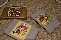 My Night in Video Games (tannerstjohn) Tags: nintendo zelda n64 papermario diddykong