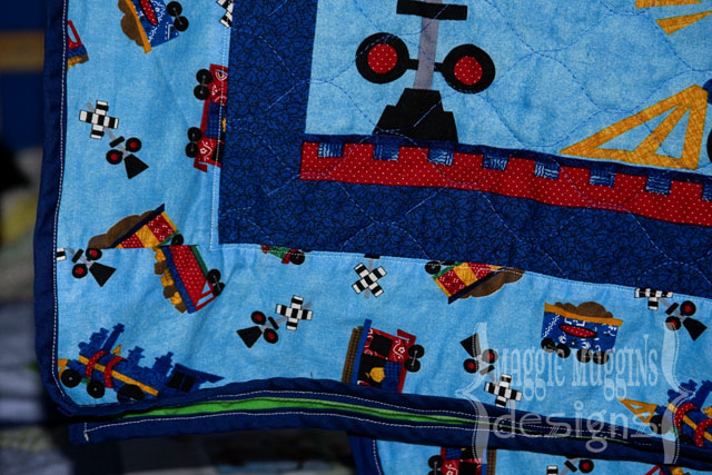 Train Quilt Front Border