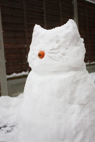 Hello Kitty? Cat Snowman