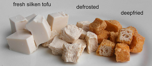 Making your own tofu puffs