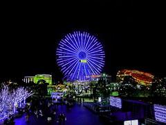 Night Flower  (memories of time) Tags: japan night ferriswheel yokohama minatomirai