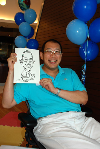 Caricature live sketching for Pan Pacific Hotels Group Family Day - 1