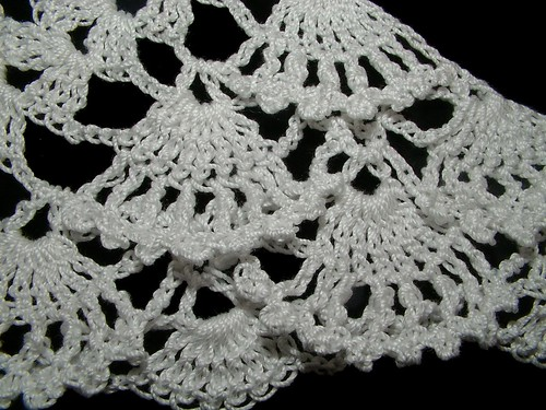 Crochet Fan Lace Shawl, Wrap, Scarf Pattern | Renate Kirkpatrick's