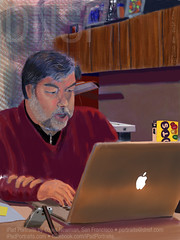 iPad Portrait Of Steve Wozniak at Work Today