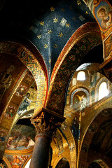 oro siciliano (fabrizia maiorano) Tags: light sky church window stars gold blu chiesa cielo palermo architettura luce sicilia volta oro stelle capitello martorana flickrbestpics