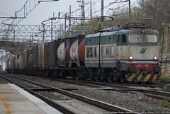 E655-102 (Raffaele Russo (LeleD445)) Tags: cargo container stop 102 chemical trenitalia elettrica locomotiva pomezia caimano e655 reostatica
