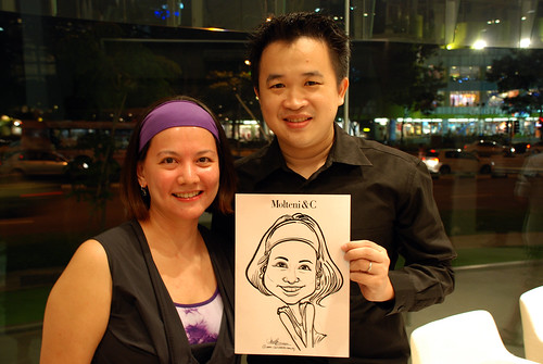 Portrait & Caricature live sketching for Molteni & C - 4