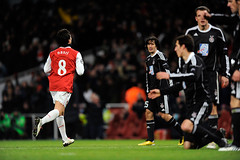 Arsenal v Partizan Belgrade (toksuede) Tags: uk england london sports sport foot football nikon fussball soccer serbia emirates deporte belgrade samir arsenal futebol league champions d3 voetbal 2010 calcio 2011 partizan nasri