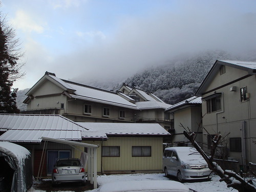 四万温泉 初積雪 2010年12月10日