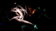 serpente di luce (MatteoSnsNikon) Tags: light painting giallo di bianco nero luce serpente vede verede