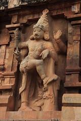 Dancing Shiva (Nataraja), stone carving, Brihadeshwarar Temple, Thanjavur, Tamil Nadu, India (Mikey Stephens) Tags: india temple arms stonecarving unesco granite multiple thanjavur nataraja tamilnadu chola worldhertiagesite brihadisvara dancingshiva brihadeshwarar