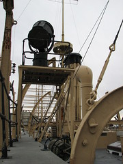 Signal light and rigging on the USS Olympia (FranMoff) Tags: light lamp boat ship navy olympia signal cruiser uss c6 ca15 protectedcruiser cl15 ix40