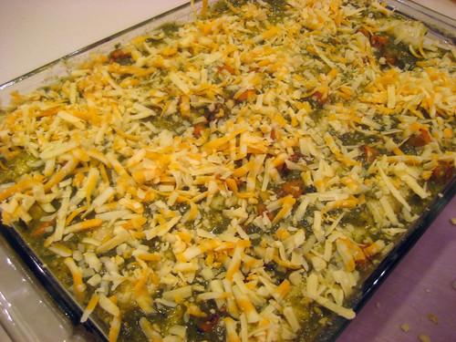 unbaked enchiladas verdes