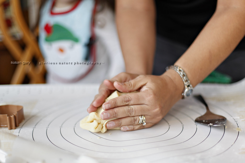 Woman's Hands Kneeding Pastry Dough