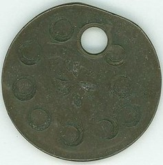Holed and stamped Large Cent1