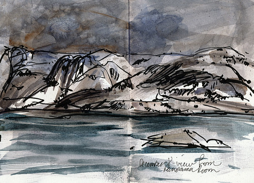 Norway: sketches from moving boat