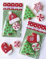 Cute Christmas Packaging (Glorious Treats) Tags: christmas trees red green cookies traditional wrapped packages decorated