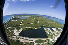 Cayman Islands Helicopter tour (blueheronco) Tags: tour aerialview helicopter caymanislands grandcayman fisheyelense caymanislandshelicopters