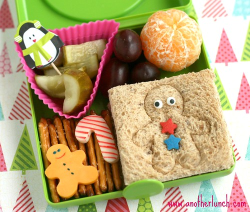 Sandwich box winter bento