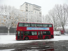 Waltham-snow! (Richard and Gill) Tags: red snow bus london buses weather e17 walthamstow walthamstowbusstation 357 walthamforest londonbus londontransport transportforlondon plusnet firstgroup tfllondon uksnow walthamsnow