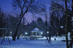 Pargipaviljon (anuwintschalek) Tags: park schnee winter snow night 35mm dark austria evening abend december lumi niedersterreich dunkel stadtpark 2010 talv wienerneustadt htu pime nikond90 hmar vanagram