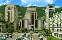 Hong Kong Bank, Chartered Bank and Bank of China 1950s-1960s, Hong Kong (richardwonghk3) Tags: old heritage hongkong photo central bank 1950s 1960s  historicbuilding     standardcharteredbank charteredbank    collectivememories