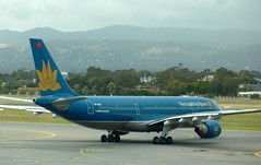 Vietnam Airlines Airbus Taxiing to Runway 23 (chrismc38) Tags: airbus a330 vietnamairlines taxiing adelaideairport