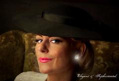 Elegant- & Sophisticated. (B Gilmour.) Tags: portrait texture face hat lady mature lipstick elegant tatot