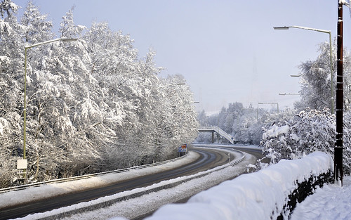 The A470 Under Snow
