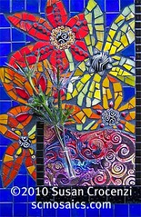 This is How I Feel Sometimes (sucra88) Tags: flower pc mosaic mixedmedia polymerclay glassmosaic premo millefiore mosaicflower susancrocenzi wwwscmosaicscom