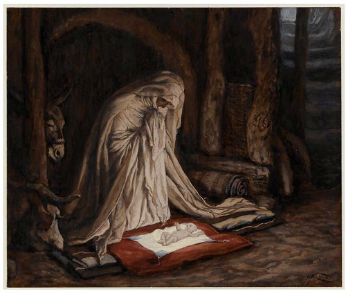 017-El nacimiento de Jesus- 1886-1894- James Tissot-Copyright © 2004–2010 the Brooklyn Museum