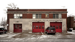 Engine 81 (Cycle the Ghost Round) Tags: city winter urban usa snow chicago illinois day cloudy unitedstatesofamerica overcast firestation hazy firehouse cfd chicagofiredepartment canoneos5d canonef24105mmf4lisusm southdeering