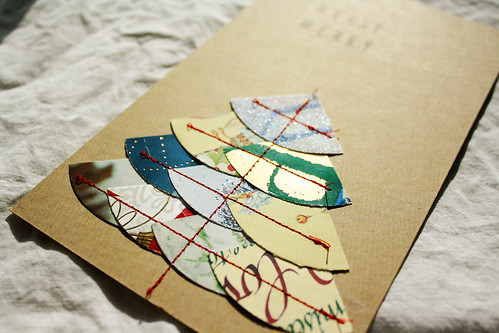 handmade card detail