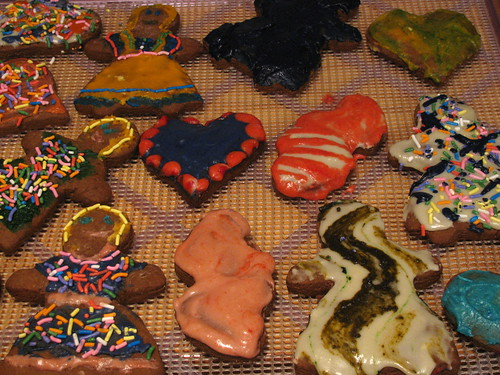 cookies on wood counter