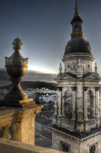 St Stephen tower. Budapest. Torre de la basílica de San Esteban